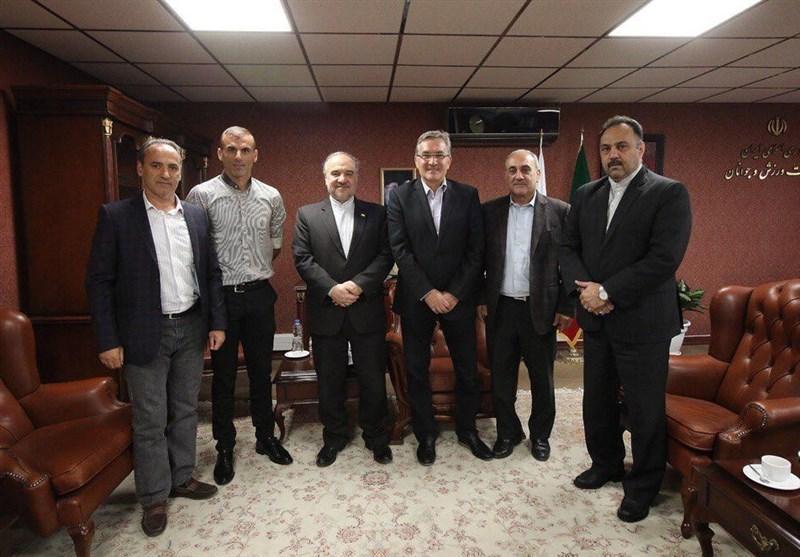 دیدار برانکو و سیدجلال حسینی با وزیر ورزش، سلطانی فر: امیدوارم پرسپولیس قهرمان آسیا گردد