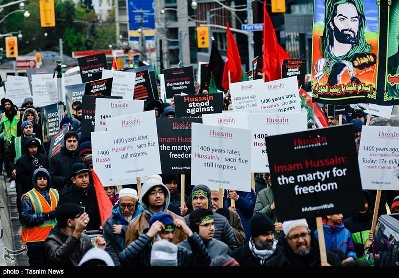 گزارش خبرنگاران از راهپیمایی اربعین در کانادا
