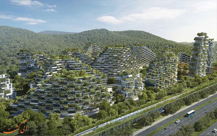 چین بزرگ ترین شهر جنگلی جهان را می سازد