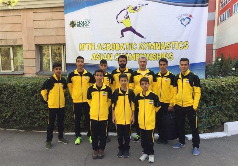 یک نقره و یک برنز برای ملی پوشان ایران در رقابت های آکروژیم قهرمانی آسیا