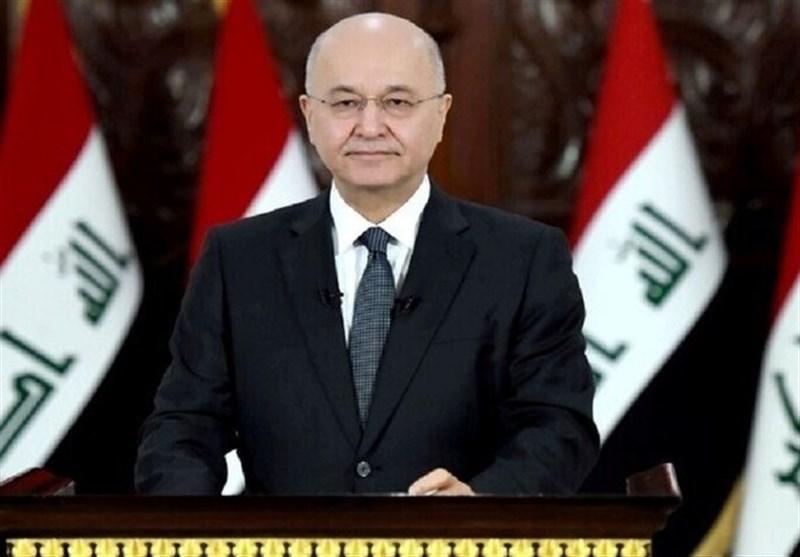 تاکید برهم صالح بر لزوم گسترش همکاری میان ایران و عراق