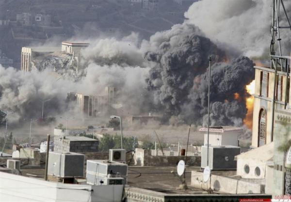 ادامه حملات متجاوزان سعودی به مناطق مختلف یمن