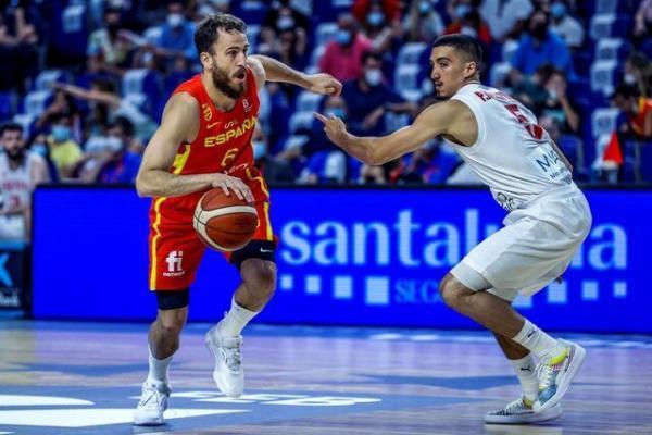 شکست سنگین بلندقامتان بسکتبال مقابل قهرمان دنیا، ایران 53 ، 96 اسپانیا